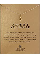 """Dogeared Anchor Yourself Pendant Necklace, 18"""""""