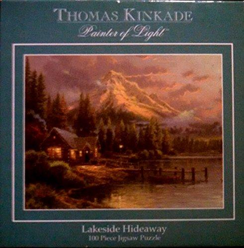 Ceaco Thomas Kinkade Painter Of Light 100 Piece Jigsaw Puzzle 'Lakeside Hideaway' - 1