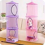 Home-Cube® 2pcs Set New Hanging Mesh Storage Basket Toys Organizer 3 Compartments