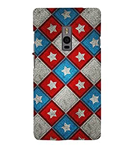 printtech Star Abstract Pattern Back Case Cover for OnePlus Two / One plus two / Oneplus 2 / One Plus 2