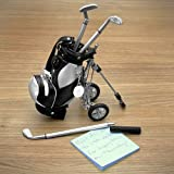 Golf Pens with Golf Bag Holder, 4-Piece Set (Engravable) (Customizable Product)