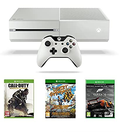Xbox One White Console, Sunset Overdrive, Call of Duty: Advanced Warfare and Forza 5: Racing Game of the Year Edition (Full Game Download)