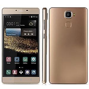 PADGENE® MATE7 UNLOCKED 3G SMARTPHONE 5.5 INCH ANDROID 4.4 KITKAT MOBILE PHONE ----MTK6572 DUAL CORE DUAL SIM DUAL STANDBY DUAL CAMERA 4GB ROM GPS G-SENSOR WIFI SIM-FREE 2G/3G CELLPHONE (Gold)