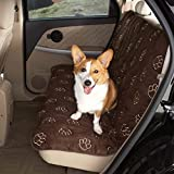 Guardian Gear Polyester Pawprint Pet Car Seat Cover, Charcoal