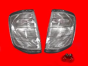 A Pair of Depo Toric Smoke Lense Corner Signal Light - Mercedes-Benz 300E 2.8 W124 1993-1994