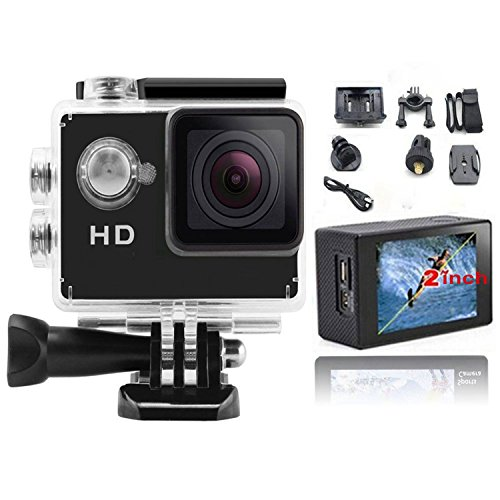 Action Camera, Valworld Hd Pro, Wide Angle Sports Camera,waterproof/shockproof Cam Dv Camcorder Outdoor for Bicycle Motorcycle Diving Swimming Skiing Sliver with Free Accessories Kit
