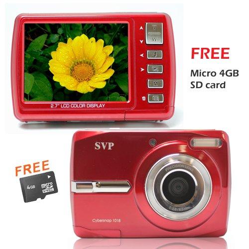 18MP Cybersnap1018 Red (Micro4GB) Digital Camera