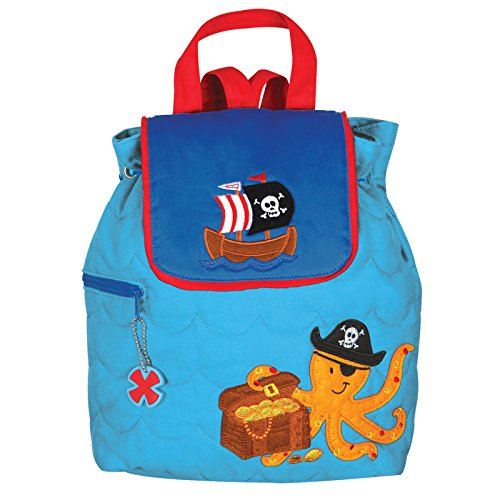 Stephen Joseph Boys Quilted Pirate Octopus Backpack Bag (Blue)