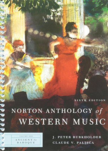 Norton Anthology of Western Music: 1