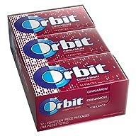 Orbit Cinnamon Sugarfree Gum, (Pack of 12)