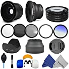 Accessory Kit for CANON PowerShot SX50 HS - Includes: Lens Conversion Adapter + Professional .35x Super Wide Fisheye Lens + 0.43x Wide Angle Lens + Filter Kit (UV