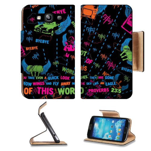 Not Of This World Proverb 23:5 Samsung Galaxy S3 I9300 Flip Cover Case With Card Holder Customized Made To Order Support Ready Premium Deluxe Pu Leather 5 Inch (132Mm) X 2 11/16 Inch (68Mm) X 9/16 Inch (14Mm) Msd S Iii S 3 Professional Cases Accessories O