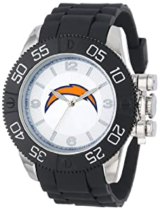 Game Time Mens NFL-BEA-SD Beast San Diego Chargers Round Analog Watch by Game Time