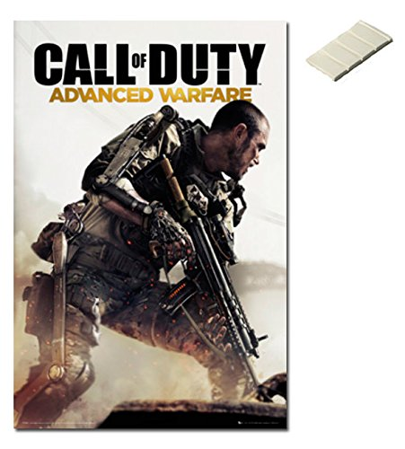 Bundle - 2 Items - Call Of Duty Advanced Warfare Cover Poster - 91.5 x 61cms (36 x 24 Inches) and Small Block Of White Tack (Advanced Warfare Items compare prices)