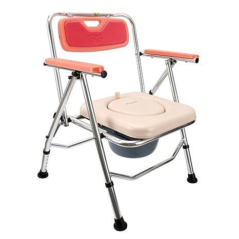 NEEDED Y Sedia da toilette pieghevole per sedute regolabili per la riabilitazione del sedile da bagno per donne