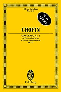 Piano Concerto No1 In E Minor Op 11 Miniature Score from Edition Eulenburg