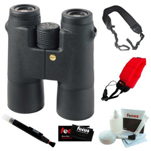 Swift 828 8.5X44 Hcf Audubon Binoculars + Focus Foam Float Strap Red + Focus 5-Piece Deluxe Cleaning & Care Kit + Accessory Kit