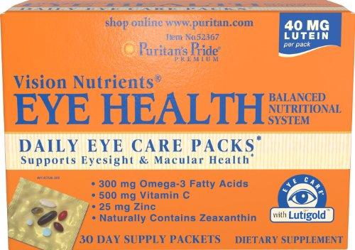 Puritan'S Pride Eye Health Daily Eye Care Packs-30 Packs