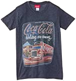 Coca-Cola Men's Holiday Trucks Are Coming Crew Neck Short Sleeve T-Shirt