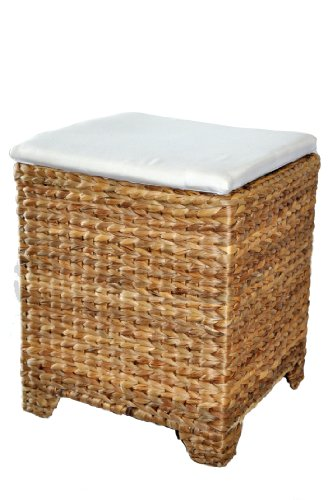 Wicker Ottoman with Storage
