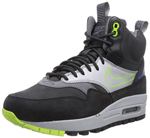 air max mid sneaker black
