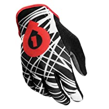 SixSixOne Rev Wired Gloves (Black/Red, Medium)