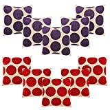 HOMEC Trendy Cushion Covers Set of 10 in 40 cm X 40 cm (Color - Multi)