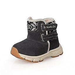 S.Marlon DHS040 H&L Fur inside Toddler Girls Boots(Toddler/Little Kid)(9,Black)
