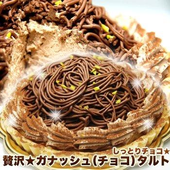 しっとりチョコ贅沢ガナッシュ(チョコ)タルト5号サイズ 2個セット≪冷凍商品≫