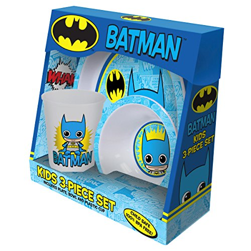 ICUP Dc Comics Batman Toyetic Polypropylene 3-Piece Dining Set with Plate, Bowl and Cup - 1