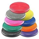 "Wacces 13"" Athletic Inflatable Twist Massage Balance Stability Fitness Cushion Disc to Improve Balance & Flexibility."