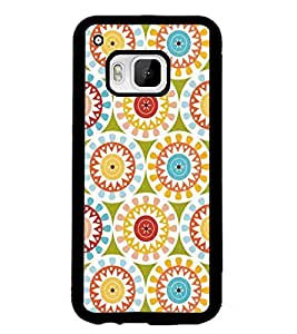 PrintDhaba Pattern D-5202 Back Case Cover for HTC ONE M9S (Multi-Coloured)
