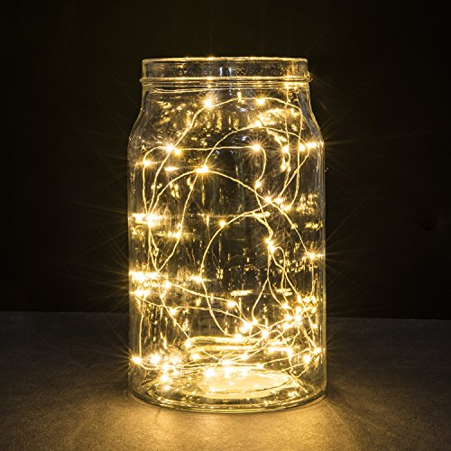 Kohree 10ft/3M 30 LEDs Party String Light, 3xAA Batteries Powered Copper Wire Lights, Waterproof Starry String Décor Rope Lights For Seasonal Decorative Christmas Holiday, Wedding, Parties With Timer Battery Box