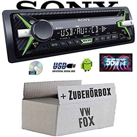 VW Fox - Sony CDX-G1102U - CD/MP3/USB Autoradio - Einbauset
