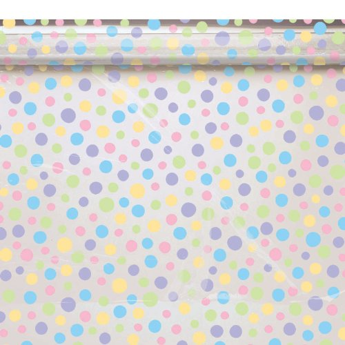 Amscan Mens Pastel Print Cello Gift Wrap Black Medium