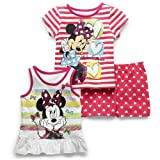 Disney Girls 12-24 Months Minnie 3 Piece Short Set
