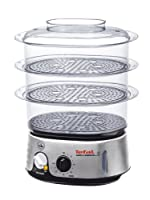 Tefal Invent VC101616  3 Tier Food Steamer, 9 Litre, Black and Chrome by Tef