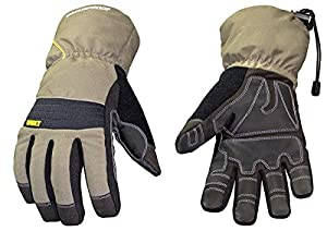 Youngstown Glove 11-3460-60-XXL Waterproof Winter XT 200 gram Thinsulate Waterproof Glove, Gray and Black, 2X-Large