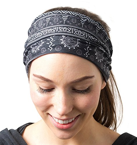 RiptGear Yoga Headbands Tribal Black and White (Diamond Ski Cap compare prices)