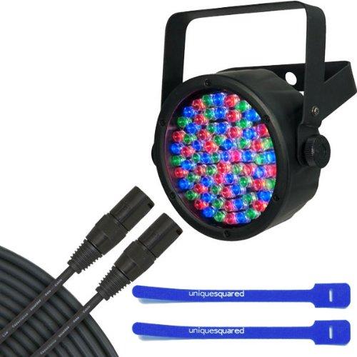 Chauvet Slimpar 38 - Led Par Can Lighting Effect W/ 25' Dmx Cable & Cable Ties