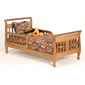 Stork Craft Soom Soom Toddler Bed, Oak: Baby