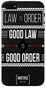 CimaCase Good Law Good Order Designer 3D Printed Case Cover For Apple iPhone 5S