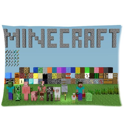 Minecraft Game Pillowcase Zippered Two Sides Design Printed 20x36 pillows Throw Pillow Cover Cushion Case Covers
