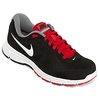 Nike Men's NIKE REVOLUTION 2 RUNNING SHOES 9.5 Men US (BLACK/WHITE/VARSITY RED/CL GRY)