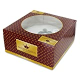 Gold Crown Iced Christmas Cake - 24oz 681g