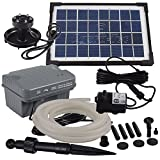 Agora-Tec® AT-Solar Bachlaufpumpen - Set 3.5W-BLH mit Akku und 3-