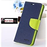 First 4 For Samsung Galaxy Core Prime G360H Flip Cover Mercury Wallet Dairy Case (Blue & Green)