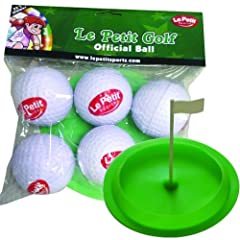 Buy Le Petit Sports - Golf Soft Oversized Foam & Rubber Balls - Pack 6 - with Flag Cup Target (2.5 inch - Low flight -... by Le Petit Sports