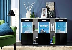 Amazon.com: Montreal - Dresser Black & White / Chest of Drawers - High