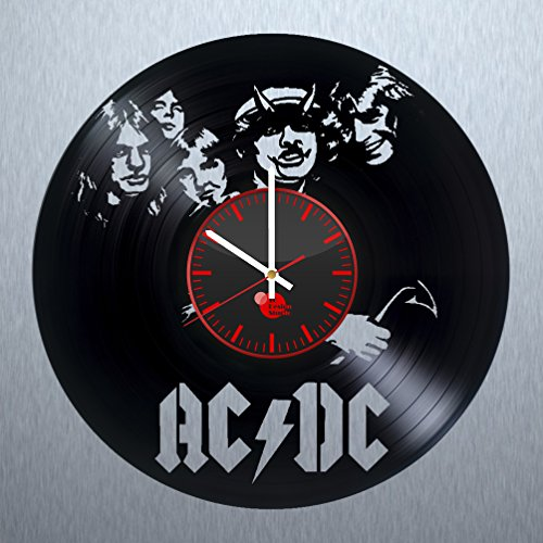 ACDC-HANDMADE-Vinyl-Record-Wall-Clock-Get-unique-living-room-wall-decor-Gift-ideas-for-menfriends-sister-boys-Rock-Music-Unique-Art-Leave-us-a-feedback-and-win-your-custom-clock